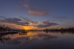 Sunrise (S♡C) Tags: sunrise river riverside parramattariver australia hot seagull water clouds reflections jetty ferryport