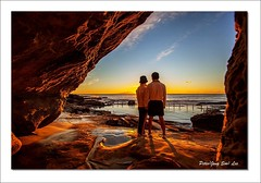 Husband and wife (jongsoolee5610) Tags: seascape maroubra sydney australia sydneyseascape sea sunrise sydneysunrise canonflickraward flickrtravelaward