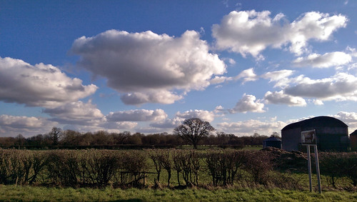 Fleecy February clouds,Lings farm Croxton Kerrial Leicestershire,February 23rd 2016