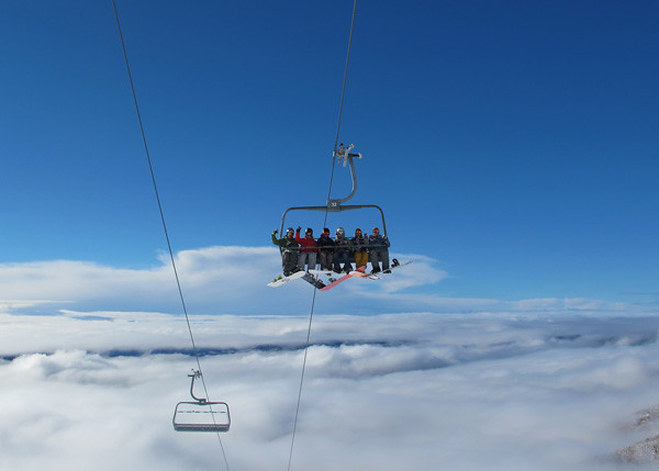Home Basin Chairlift, Treble Cone NZ (23 August 2013)