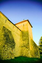 Defense tower (Raoul Pop) Tags: travel summer tower architecture corner seasons stonework places medieval romania fortifications ro buttresses bucovina dragomirna manastireadragomirna