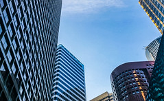cluster (pbo31) Tags: sanfrancisco california city blue summer urban color skyline architecture contemporary august financialdistrict cbd marketstreet frontstreet 2015 boury pbo31 iphone6plus