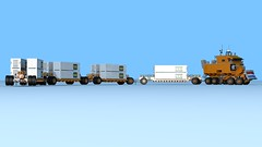 W.I.P. Overland Train (The Driving Dutchman) Tags: truck lego wip trains outback trucks trailer oilfield logistics overland povray ldd oilfieldtruck ldd2povray