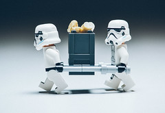 """""""Join the Imperial army, they said. You can make a difference, they said. Nuts. Just nuts."""" (Teemu R) Tags: army star starwars lego stormtrooper imperial wars cashew legostarwars carryon minifigure toyphotography"""