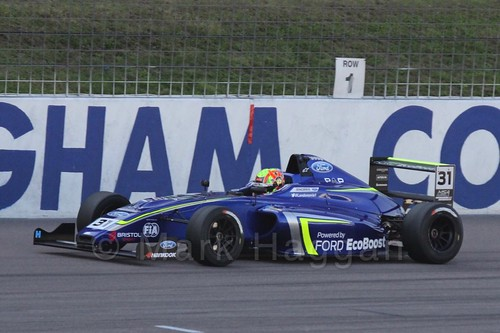 Lando Norris in MSA Formula at Rockingham, September 2015