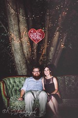 (kluskieandwellsphotography) Tags: trees wedding white cute love grass forest canon hearts fun outdoors lights moss backyard pretty rustic couples grandparents fancy weddings mossy outdoorwedding rusticwedding
