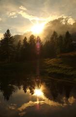 Into the Mistyc (marco.ferrario3) Tags: sunset mountain lake misty reflex tramonto nebbia montagna riflesso caspoggio nikon20mmf40 canoneos1100d