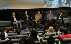 """The Martian"" Panel at Columbia University (NHQ201509270011) (NASA HQ PHOTO) Tags: newyorkcity ny newyork nasa columbiauniversity davidmiller davelavery adityasood drewgoddard themartian mikemassimino joelkowsky"