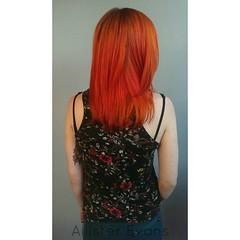 Orange hair (callmeallister) Tags: orange orangehair coloredhair funhair brighthair mediumhair colorfulhair