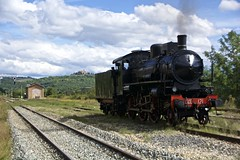Steam train under Poggio alle Mura Castle