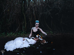 Hades / Persephone (Cambiguous) Tags: portrait beauty composite female photoshop canon dark greek photography model surreal fantasy conceptual productions hades myth whimsical 6d cambiguous