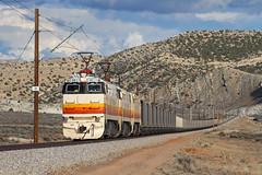 Climbing out of Mormon Gap (Moffat Road) Tags: electric colorado co locomotive ge e60 dpr coaltrain unittrain deseretpowerrailway electrifiedrailroad e60c2 milepost21 formerdeseretwestern mormongap