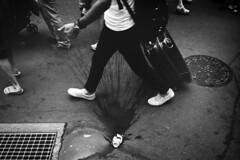 Harajuku. (Davide Filippini ) Tags: people blackandwhite bw film feet monochrome japan tokyo trix 400tx harajuku   cans  leicam6     jingumae     ultron28 davidefilippini m6 x   28