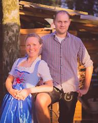 Paar zum Oktoberfest 2