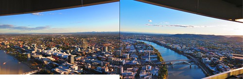 Hotel room view - looking South/West over the Brisbane River