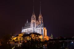 Night photo of Cathedral of St. Peter and Paul, Brno (WonderfulSnaps.com) Tags: tower night dark lights picture illumination brno nightphotoofcathedralofstpeterandpaul