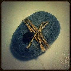 Stone. Felted stone (difsus) Tags: rock felted design felting handmade packing needlefelting feltedpebble feltedrock