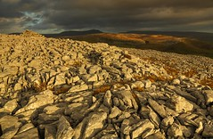 Pen-y-ghent and Crummackdale from Thwaite Scars Summit (Explored) (sunstormphotography.com) Tags: mountains landscape yorkshire thwaite yorkshiredales crummackdale penyghent wharfe austwick polarisingfilter canon24105l yorkshiredalesnationalpark ndgradfilter thwaitescar canon5dmark3