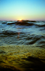 (JoeBenjamin) Tags: ocean blue sunset sea sunlight color film beach water yellow 35mm tampa point mexico gold bay shoot waves fuji underwater gulf florida kodak dusk wave ps negative shore 400 beaches fujifilm sliver fl hdm expired gc saltwater swirling seawater c41 weatherproof reddington