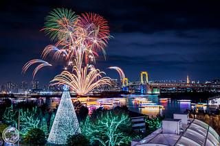 Odaiba Rainbow Fireworks 2015 (December 12th)
