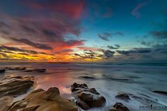 half and half (ihikesandiego) Tags: sunset beach la san diego jolla