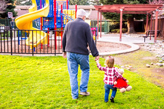 Be Sure to Hold On To Someone You Love Today (Jill Clardy) Tags: 201612044b4a8870 grandpa grandfather toddler hands holding walking stuffed bear park slides winter day jt john caitlin safe safety youllneverwalkalone granddaughter girl family gotyourback