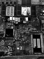 """Alleys of Genoa"" (giannipaoloziliani) Tags: monocromatico monochrome biancoenero lackandwhite blackandwhite italia italy unesco facade facciata street alleys vicoli caruggi vicolidigenova alleysofgenoa genoa genoacity genova liguria house casa flickr finestre windows muro wall dark darkness narrowstreets obscure hard scuro oscuro buio dettagli details streetdetails adversiting pareti nikon nikonphoto nikonphotography nikond3200 nikoncamera suburbs suburbano periphery periferia angolo angle streetphotography streetphoto streetblackandwhite strange noire blackstreets scritte writtens scrittesuimuri stones sidewalk hardstreets"