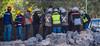 2016 - Mexico - Querétaro - Rock Pile Management (Ted's photos - For Me & You) Tags: 2016 cropped mexico queretaro santiagodequeretaro tedmcgrath tedsphotos tedsphotosmexico vignetting nikon nikonfx nikond750 hardhats workers rockpile males men denim denimjeans vests safetyvests