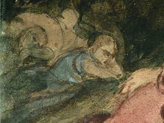 DELACROIX Eugène,1826 - Le Christ au Jardin des Oliviers, Eglise St-Paul-St-Louis, Paris, Etude (drawing, dessin, disegno-Louvre RF23325) - Detail 50 (L'art au présent) Tags: drawing dessins dessin disegno personnage figure figures people personnes art painter peintre details détail détails detalles 19th 19e dessins19e 19thcenturydrawing 19thcentury detailsofdrawing detailsofdrawingdessins croquis étude study sketch sketches tableaux louvre museum eugènedelacroix eugène delacroix france lechristaujardindesoliviers christinthegardenofgethsemane gardenofgethsemane christ jardindesoliviers aquarelle watercour watercolor man men homme romantic romantique romantisme romanticism romance armes weapons soldats soldiers rocher rock nuit night ombre shaddow paris