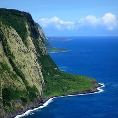Waipio Lookout (PeterCH51) Tags: hawaii bigisland coast cliffs seascape landscape coastal scenery waipiovalley lookout coastline waipio shoreline seacliffs kohala waipiʻo peterch51 square squareformat