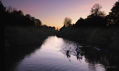 Liffey Twilight (Mick @ MBE) Tags: mbe 2011 october autumn leixlip celbridge barnhall liffey twilight river riverliffey canoe water watersport reflection nik colorefexpro4 castletown ireland kildare irlanda