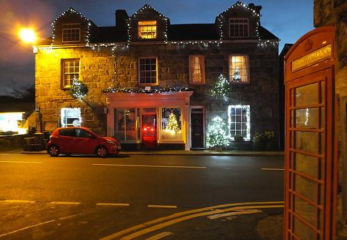 Christmas lightd ,Llanbedr, Gwynedd