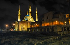 taken on 19-01-2012 on bayrothMohmmad Alamein mosque. (Ayman Zarif) Tags: mosque lebanon photography flickr 2012 color night