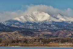 January 22, 2017 - The indominatable Longs Peak as seen from Longmont. (Tony's Takes)