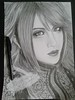 Lira (Giovana Draw/ デザイン) Tags: portrait desenho draw grey black white illustration retrato lira jrock grafite graphite