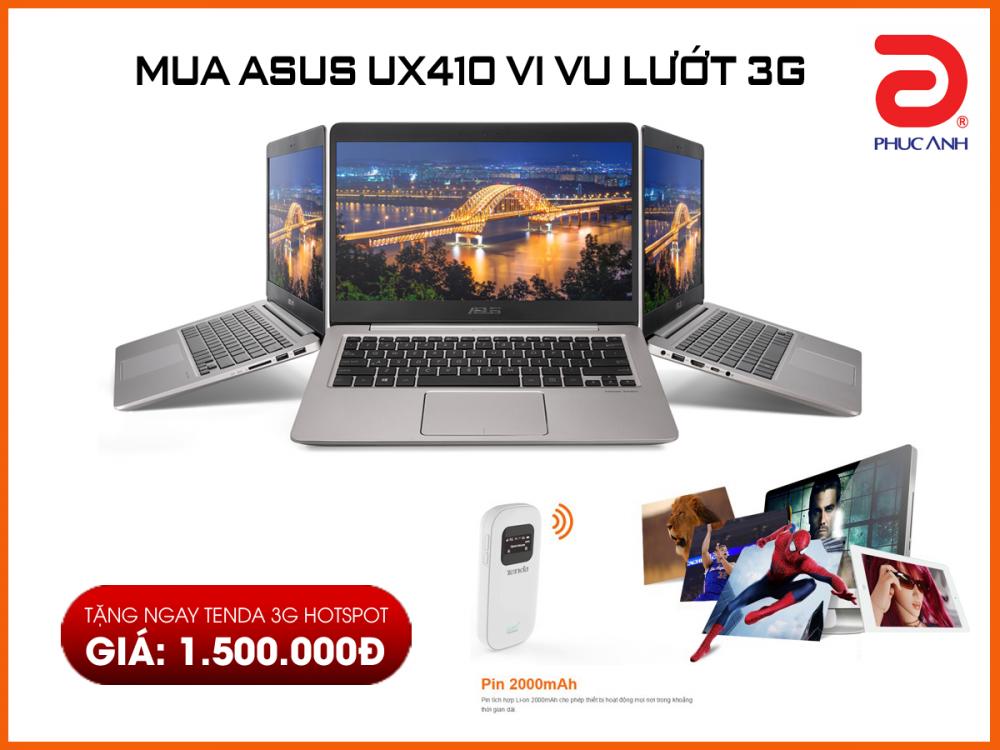 Mua Asus UX410 vi vu lướt 3G - Tặng ngay quà khủng