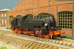 DRG BR 77 012 - Rivarossi (Stig Baumeyer) Tags: dampflokomotive steamlocomotive scalah0 scala187 damplokomotiv damplok ånglok h0 187 h0scale h0skala h0layout echelleh0 echelle187 ferromodellismo diorama rivarossi rivarossi187 rivarossih0 drg deutschereichsbahn br77 drgbr77 baureihe77