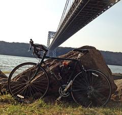 IMG_0553 Surly Pacer at GWB (Mr Flikker) Tags: georgewashingtonbridge newyorkcity manhattan underneath ground bikepath surly pacer