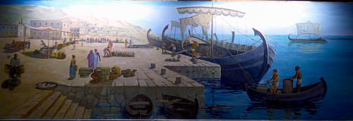 Girne - castle Roman shipwreck painting