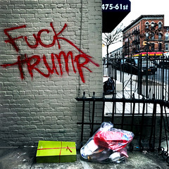 Fuck Trump (ShelSerkin) Tags: shotoniphone hipstamatic iphone iphoneography squareformat mobilephotography streetphotography street nyc newyork newyorkcity gothamist