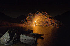 Primal (mattwalkerncl) Tags: canon eos 6d landscape night sparks spinning wirewool dark stars lightpainting wast water