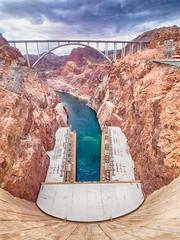 Hoover Dam (Saaliahc) Tags: omdm5 usa landscape landschaft canyon water hooverdam bridge sky hdr coloradoriver energy electricity america
