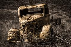 Old Codger (writing with light 2422 [not pro}) Tags: happytruckthursday htt truck decay deserted abandoned oldcodger pearryginlake winthrop washington richborder sonya77