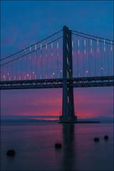 First Light (MarinSD) Tags: sanfrancisco baybridge california bridge sunrise dawn water bay longexposure