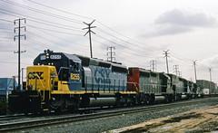 Hi-Viz (GRNDMND) Tags: trains railroads southernpacific sp espee csx locomotive emd sd402 gp402 sd45t2 puentejunction cityofindustry california