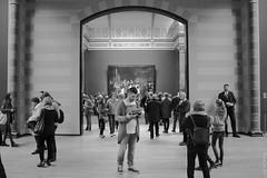 Een bedrijvig doorkijkje in het Rijksmuseum te Amsterdam