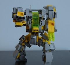 GunR-X - Action front (Wafna-204) Tags: lego legophotography moc wip mech mecha hardsuit robot afol