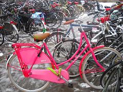 bicycle (Bettytoo2) Tags: pink ladies bike bicycle venlo oma fiets omafiets bicycleparking