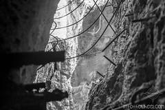 Mur de bunker dynamité, dans le repaire du loup.