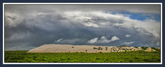 Storm front (hoomanz) Tags: panorama storm sand dune front